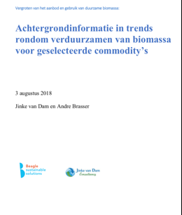 Trends towards more sustainable production and import of commodities (NL)